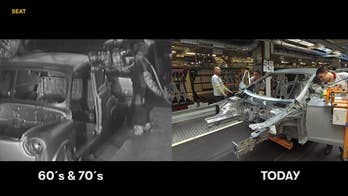 Then and now: Split-screen video shows how car production has changed in 50 years