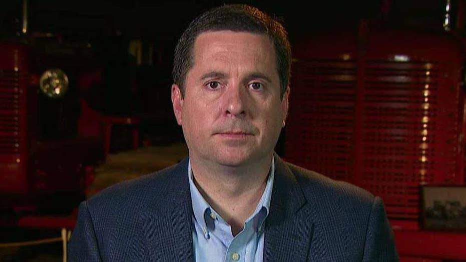 Rep. Devin Nunes announces he will send eight criminal referrals to Justice Dept concerning leaks, conspiracy amid Russia probe.