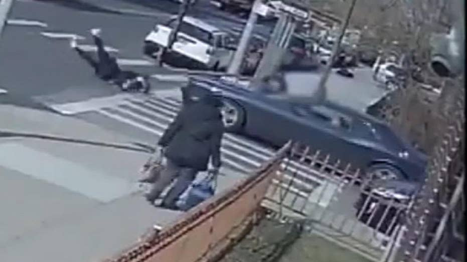 NYPD seeks driver who left scene after crashing car into teen in Brooklyn