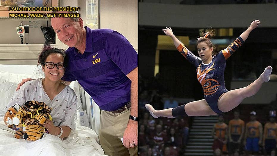Auburn University gymnast retires from sport, as details of devastating leg injury revealed