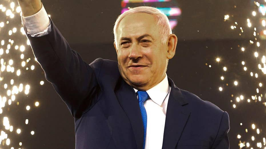Israeli Prime Minister Benjamin Netanyahu declares re-election victory.