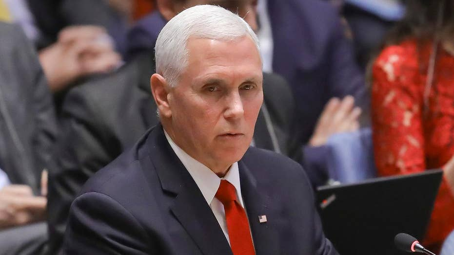 Pence says Venezuela ambassador 'shouldn't be here' while addressing the UN Security Council