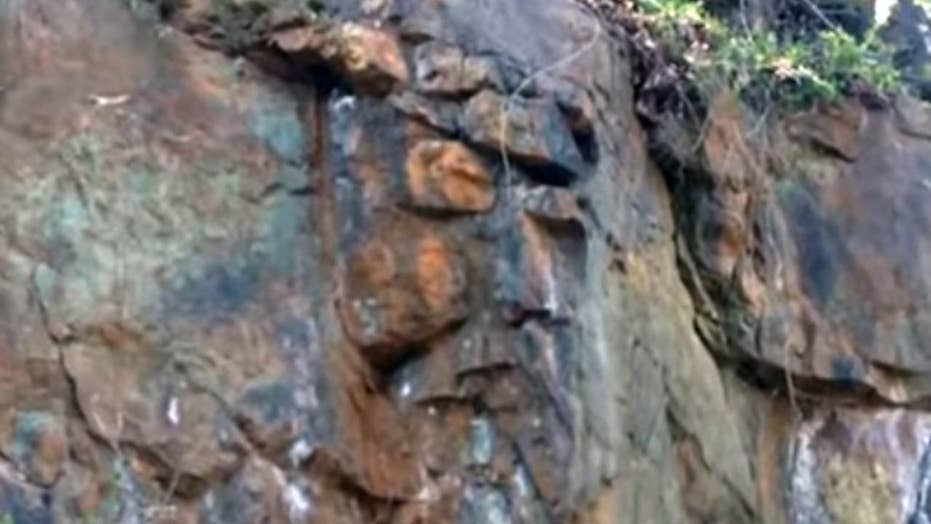 Virginia woman captures image of Christ in the rocks