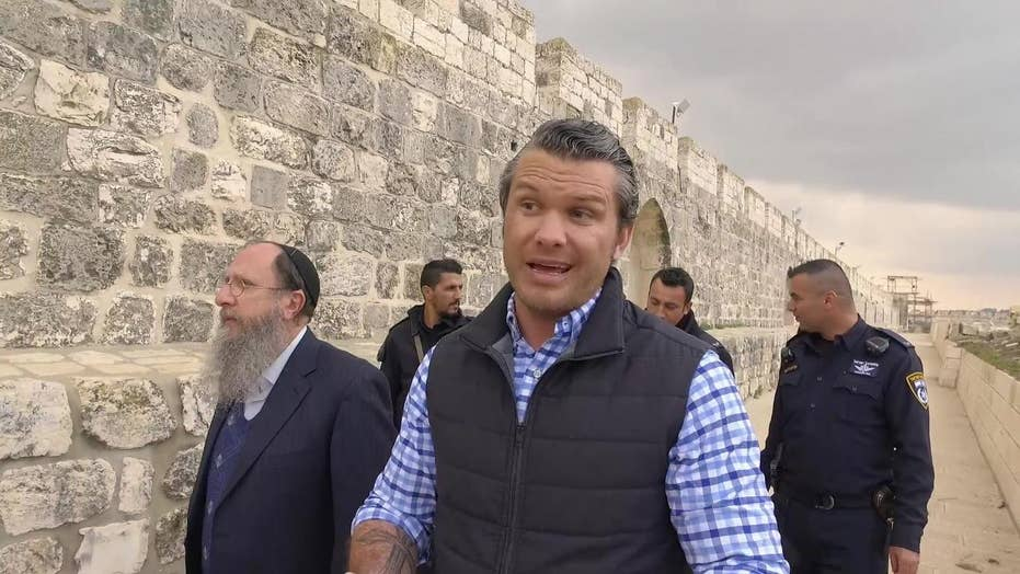 Pete Hegseth tours the Temple Mount