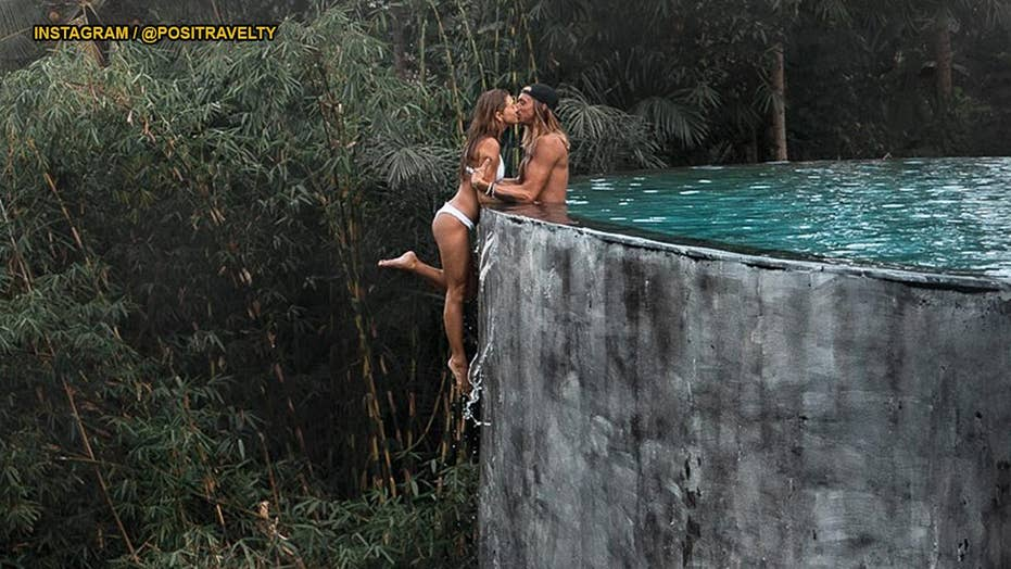 Instagram-famous couple defends 'stupid' snap on the edge of an infinity pool
