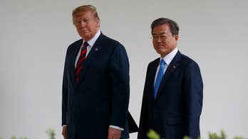 Trump meets with South Korean president to jump start denuclearization talks with North Korea