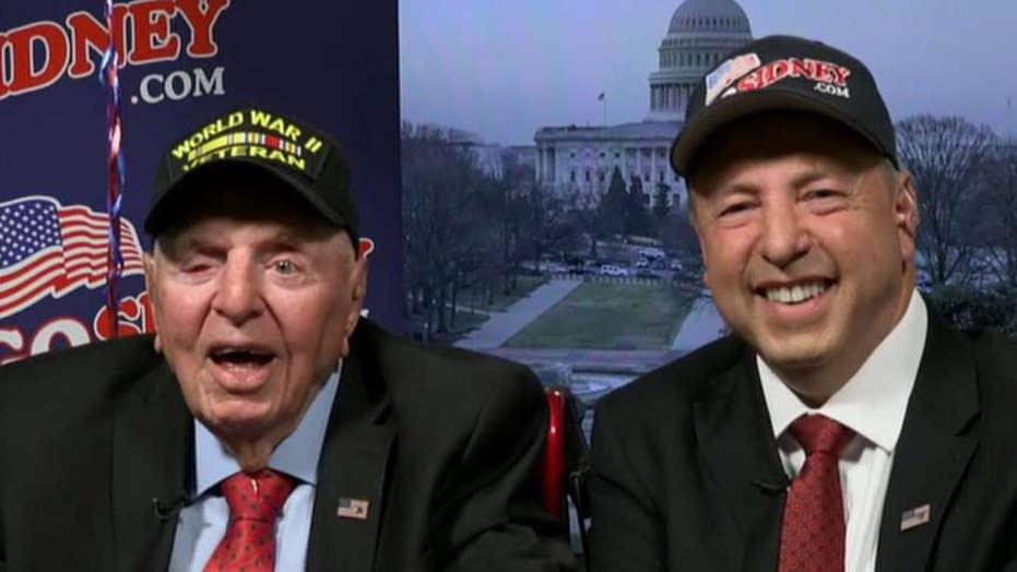 100-year-old WWII veteran meets President Trump