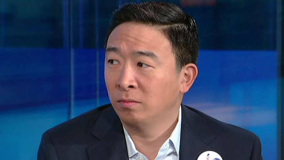 2020 Democrat presidential candidate Andrew Yang wants to give each American adult $12G a year