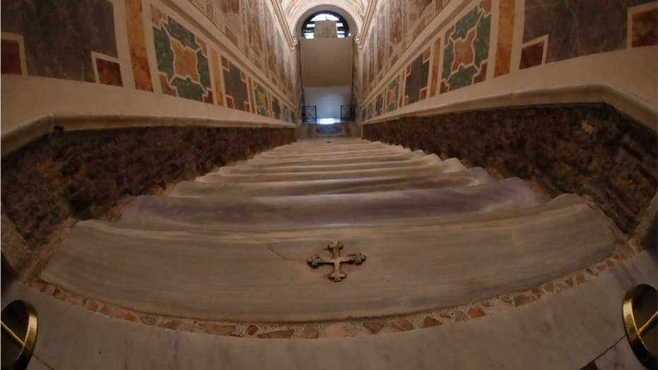'Holy Stairs' climbed by Jesus before crucifixion opened for the public