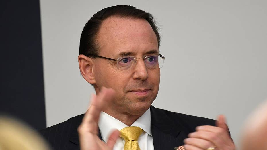 Deputy Attorney General Rod Rosenstein defends Attorney General Bill Barr's handling of the Mueller report