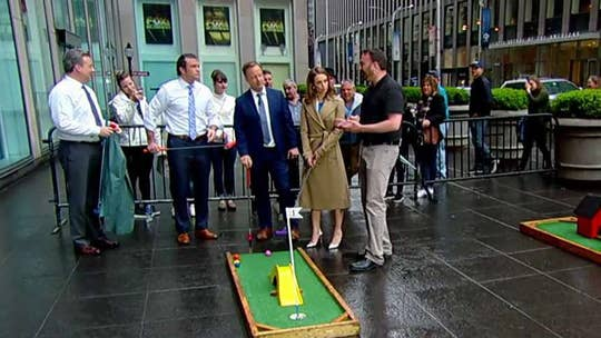 'Fox & Friends' competes in the Masters of mini golf