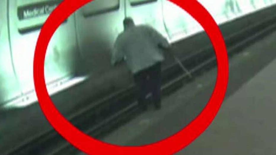 Good Samaritans rush to save blind man in DC subway station