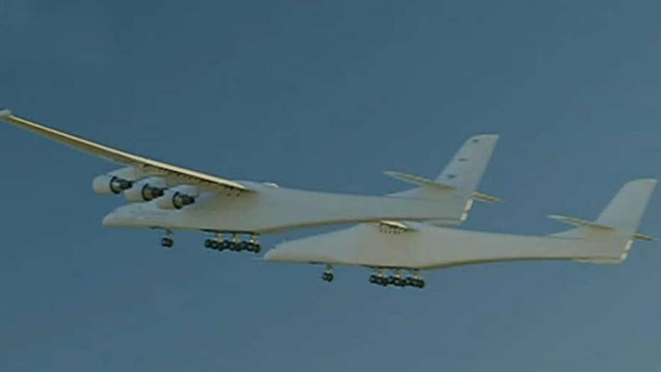 Stratolaunch, the world's largest plane, takes first flight in California