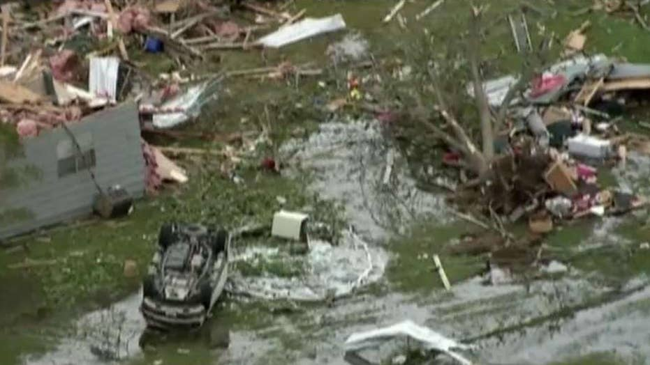 Severe weather slams states across the southern US