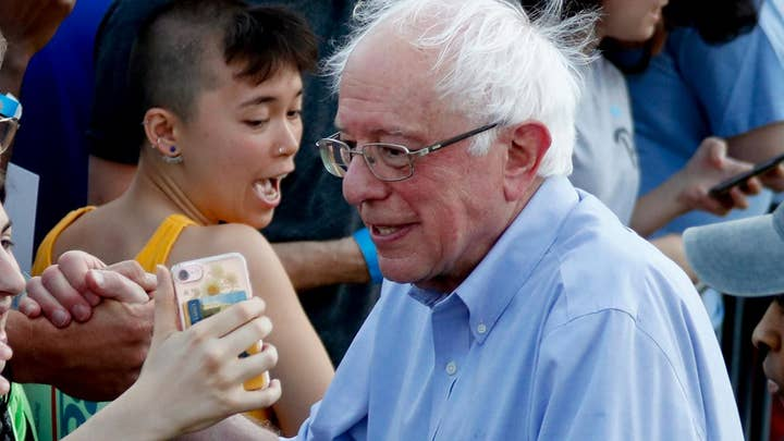 Bernie Sanders campaigns in Pennsylvania ahead of expected release of tax returns