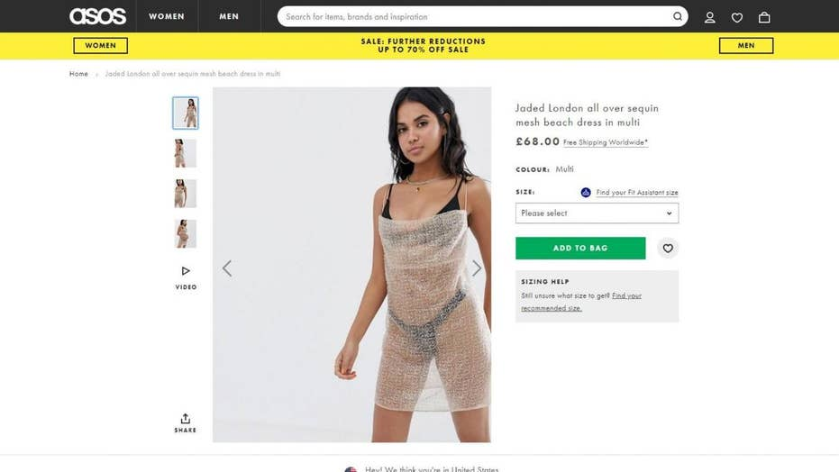 'Bubble wrap' dress from British online retailer 'ASOS' gets slammed by Twitter users