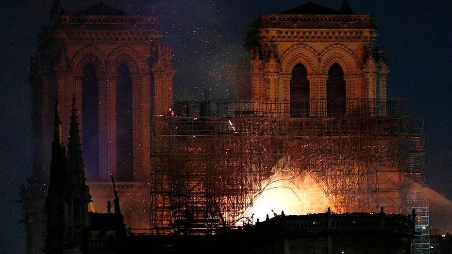 American witness describes watching Notre Dame burn: It's a sad day