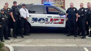American flag logos on Laguna Beach police vehicles will stay put