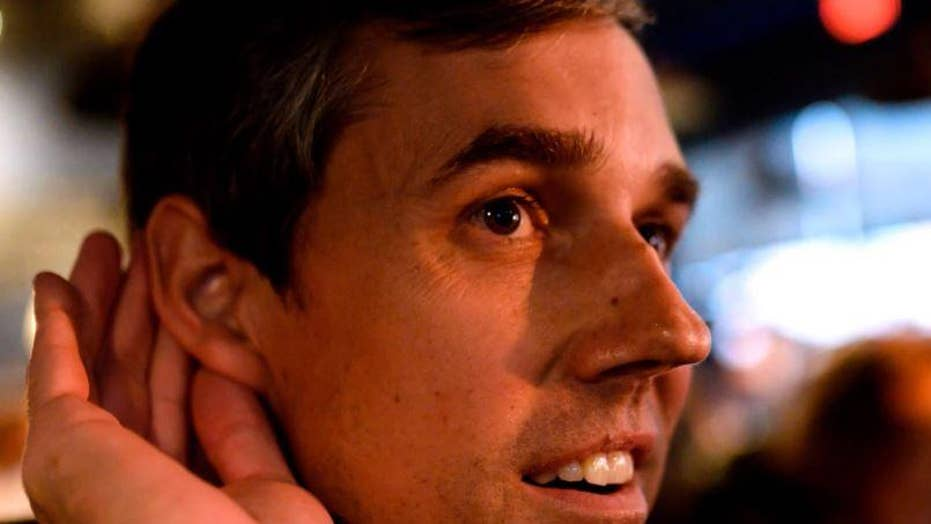 Beto O'Rourke is confronted by a voter about his charitable giving