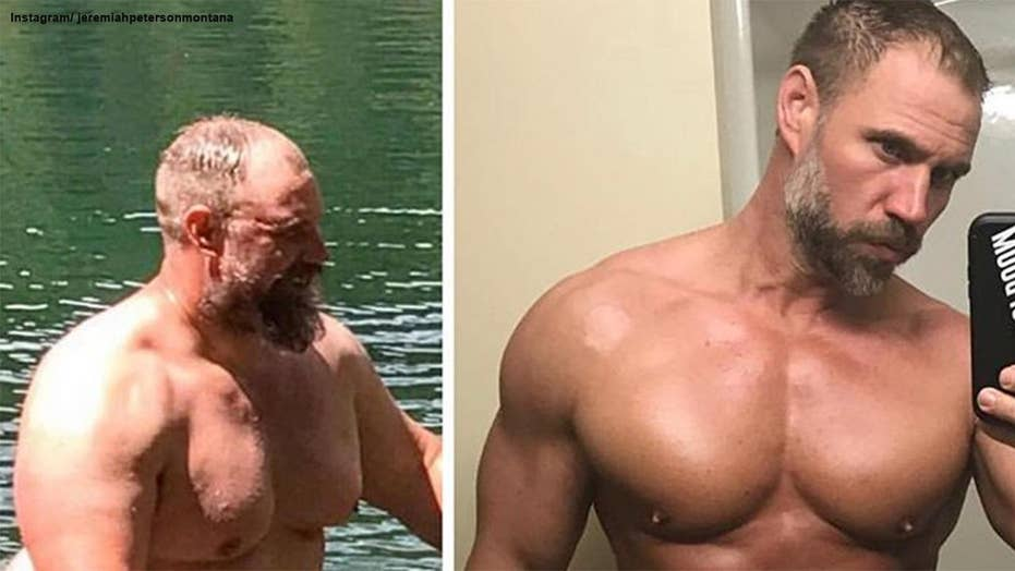 A father sheds his dad bod for chiseled abs after a family hiking trip left him gasping for air