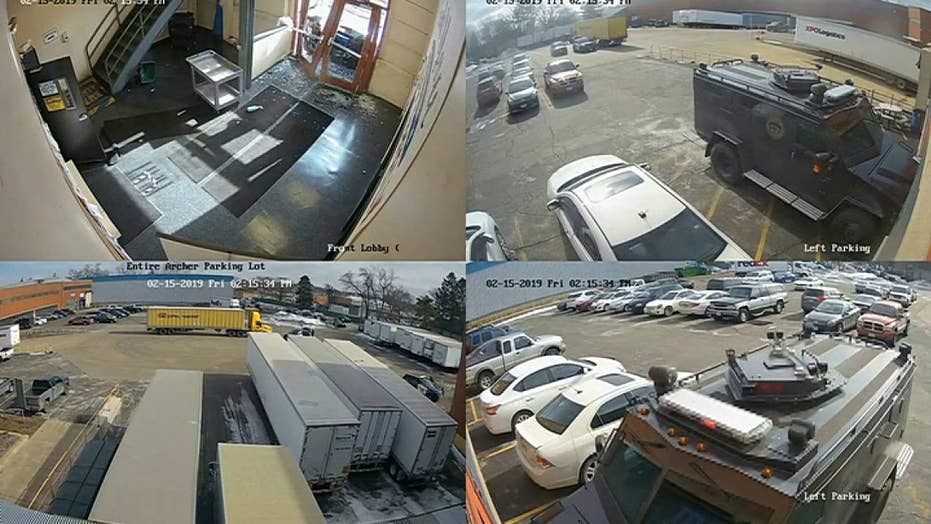 Police release footage of Aurora, Illinois warehouse