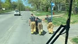 Missouri firefighters push man home after electric wheelchair breaks, video shows