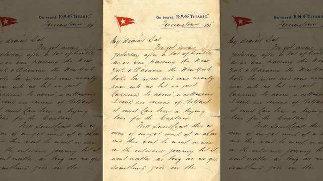 Titanic victim's long-lost letter surfaces