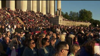 Easter sunrise service at the Lincoln Memorial