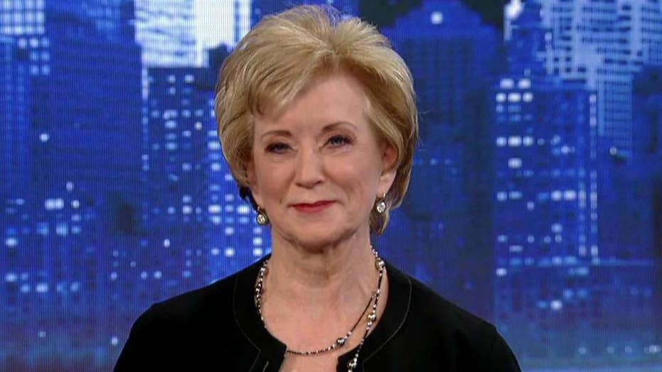 Linda McMahon defends President Trump's economic agenda, record