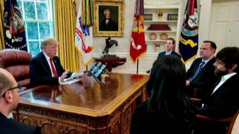 President Trump meets with Twitter CEO Jack Dorsey