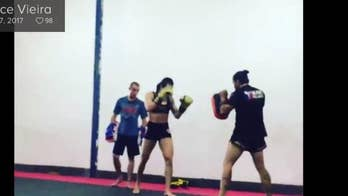 MMA fighter Joyce Vieira beats up a man who was allegedly fondling himself during photoshoot