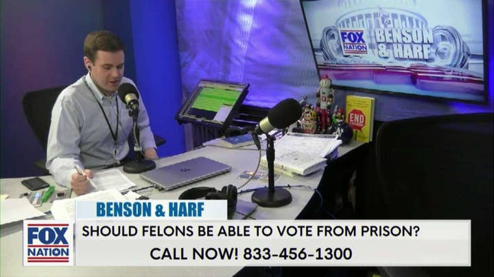 Should Felons be Allowed to Vote From Prison? Benson & Harf Took to The Phone Lines