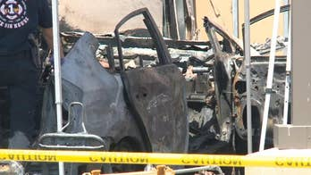 Suspect accused of ramming Raytheon building, setting vehicle on fire