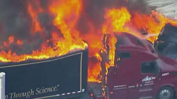 Out of control semi-truck plows into stopped traffic killing multiple people