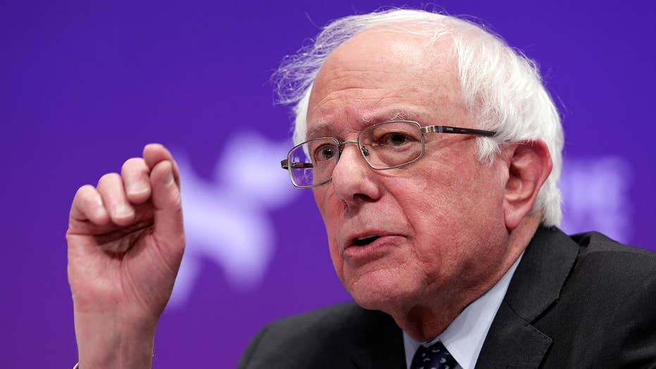 Bernie Sanders takes aim at Joe Biden's presidential campaign rollout
