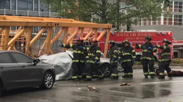 Seattle crane collapse kills four, injures four more