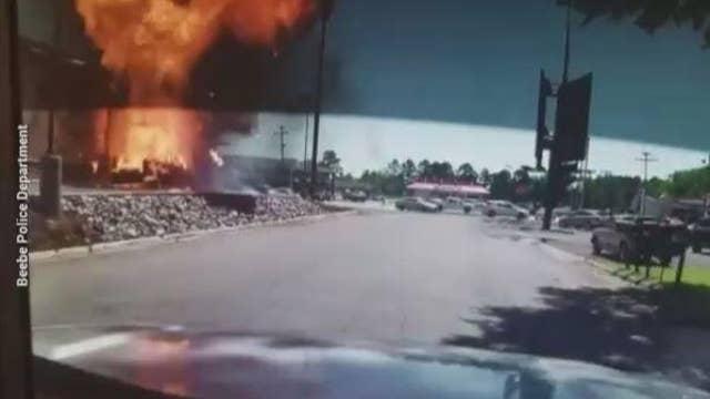 Video: Truck explodes at Arkansas Burger King drive-thru