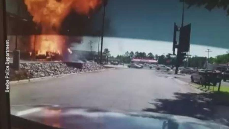 Video: Truck explodes at Arkansas Burger King drive-thru