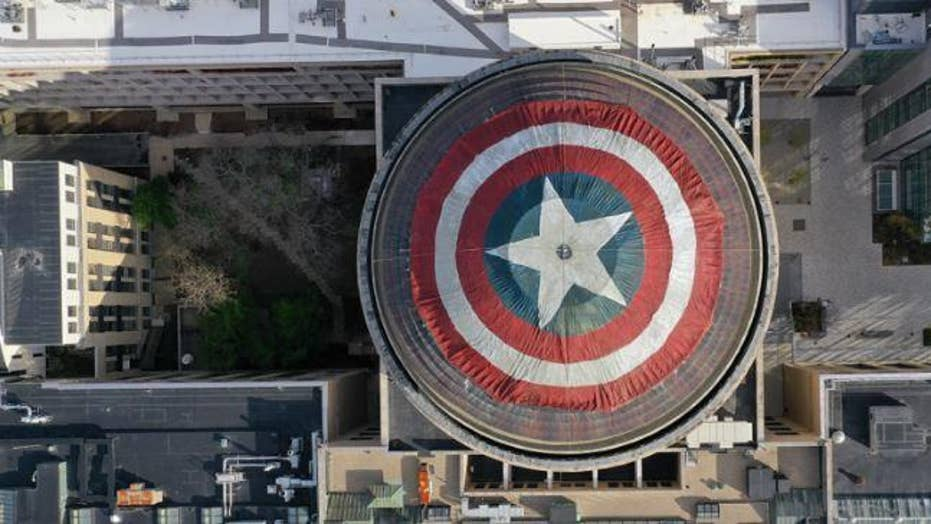 MIT 'hackers' turned the top of the Great Dome into a Captain America shield