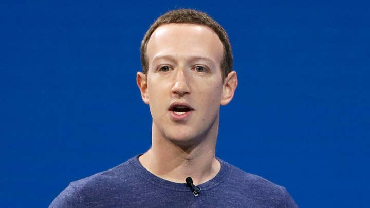 Mark Zuckerberg delivers the keynote address at Facebook's F8 Developers Conference