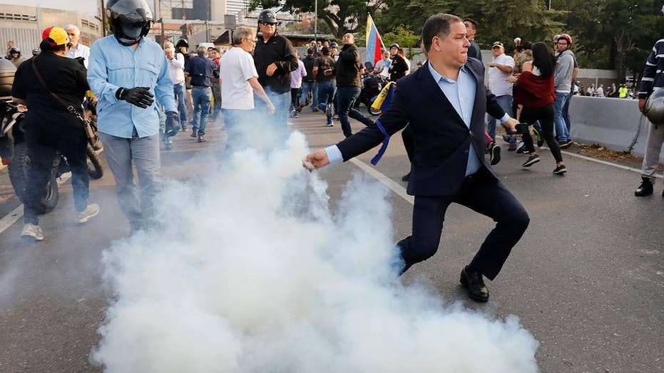 Attempted coup under way in Venezuela after Guaido calls for military uprising