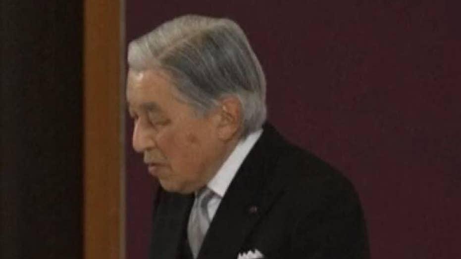 Japan's Emperor Akihito abdicates his throne