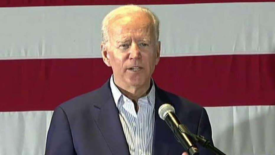 Joe Biden campaigns in Iowa, hammers President Trump