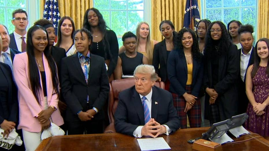 Trump congratulates victorious Baylor women's basketball team