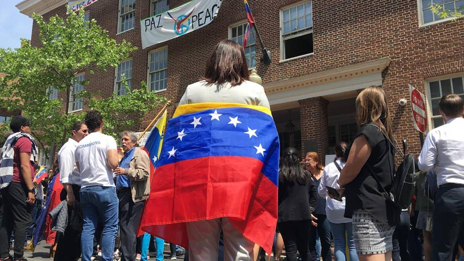 Tense scene breaks out as Venezuelans clash with pro-Maduro Code Pink activists