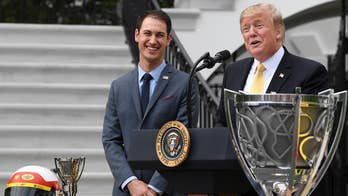President Trump honors NASCAR Cup Series champion Joey Logano at the White House