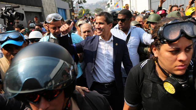 US backing Venezuelan opposition leader's calls for liberation