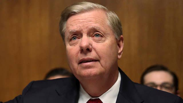 Sen. Graham reads uncensored Strzok-Page texts on Trump during Barr hearing thumbnail
