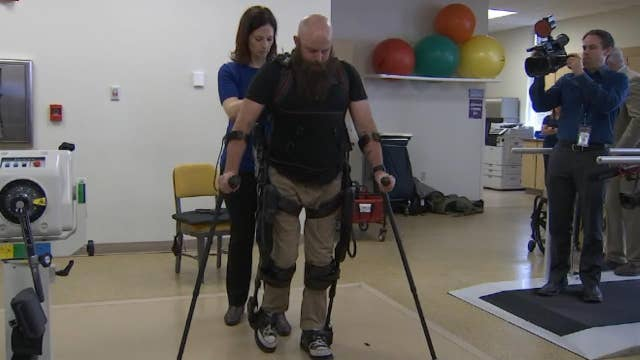 Exoskeleton helps wounded warrior stand tall thumbnail