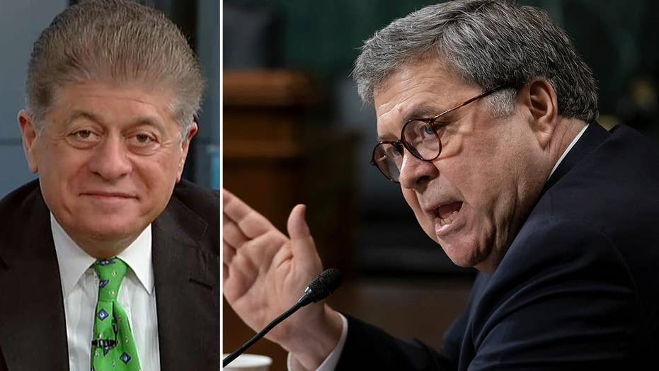 Judge Napolitano: AG Barr should have gone to House hearing saying he has 'nothing to hide'